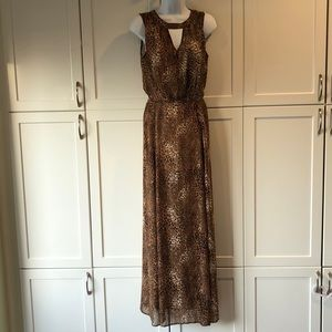 Long maxi dress leopard dress